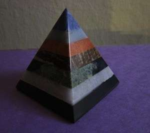 CRYSTAL HEALING TOP SODALITE STONE CARVED AND LARGE PYRAMID