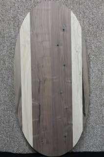 Custom Black Walnut Oval Table Top w/ Maple Accents 10500