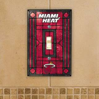 NBA   Miami Heat Art Glass Light Switch Cover