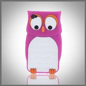Owl flexible silicone soft skin case cover for Apple iPhone 4 4G 4S