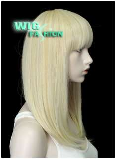 Anime Cosplay Wig Long Golden Blonde Hair Wigs DB11