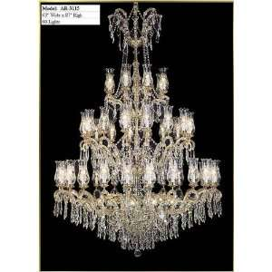 Waria Theresa Chandelier, AR 3115, 60 lights, Gold, 63