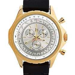 Joshua & Sons Mens Chronograph Rubber Strap Watch