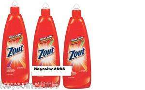 Lot of 3 Zout Laundry Stain Remover 16 Oz 3 bottles of ZOUT mfg 37811