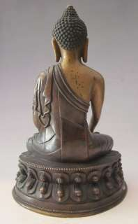 Old Tibet Tibetan Bronze Shakyamuni Buddha Statue