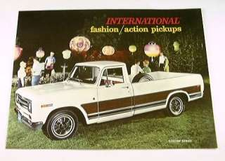 1969 69 INTERNATIONAL PICKUP Truck BROCHURE 1000D 1100D
