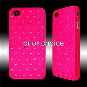 LUXUARY FLUORESCENT PINK BLING SHINY CRYSTALS HARD CASE COVER FOR