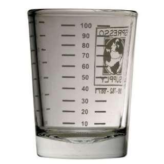 4oz Espresso Measuring Shot Glass Ounces + Milliliter supply cup 4 oz