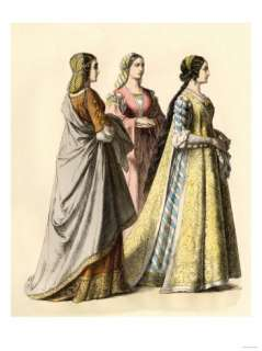 Noble Ladies of Florence During the Early 1400s Giclee Print at