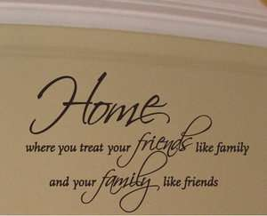Home Friends Family Quote Wall Decor Decal