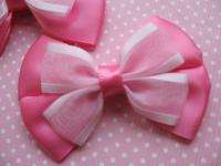 20 Satin Organza Ribbon Bow Hair Craft Hot Pink R077