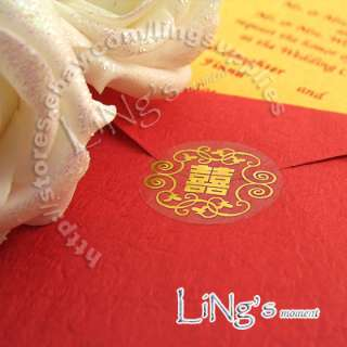 120 Wedding Envelope Gold/Silver Sticker Seal 4 Pattern