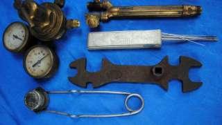 Vtg Victor Torch Lot w Gauge 550 J Torch Body Cutting Welding Oxy