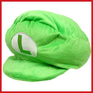 Nintendo Super Mario Bro LUIGI Plush Hat Cushion/Pillow