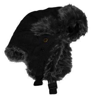 London Fog Furry Winter Faux Fur Adult Trapper Hat