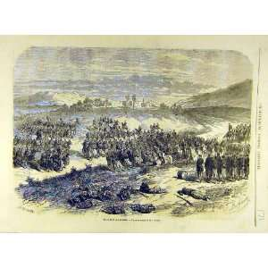 1863 Battle San Lorenzo Mexico Military French Print