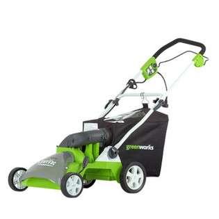 Greenworks 26262 14 Amp 16 in Single Speed Walk Behind Lawn Mulcher