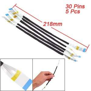 Gino 5 Pcs 218mm Length 30 Pins Flexible Flat Cables AWM