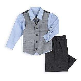 Toddler Boys Dress Shirt, Tie, Vest And Pant Set  Dockers Baby Baby