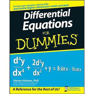 Differential Equations for Dummies, Holzner, Steven Textbooks