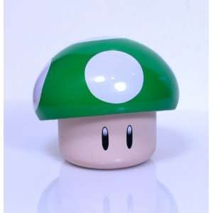 New Super Mario Brothers Green Mushroom Candy Tin [Apple Sours]  Toys
