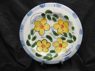 Hausenware Blue Yellow Flower Floral Large Accent Plate