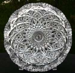 BOWL HAWKES BRAZILIAN PATTERN AMERICAN BRILLIANT PERIOD CUT GLASS NR