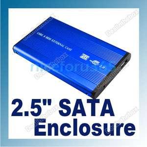 USB 2.0 2.5 SATA HARD DISK DRIVE HDD CASE ENCLOSURE SUPER SLIM