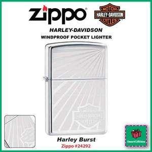 HARLEY BURST_HARLEY DAVIDSON CHROME ZIPPO LIGHTER_24292