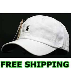 Polo Casual Outdoor Golf Sport Ball Classic Cap Hat White/Black