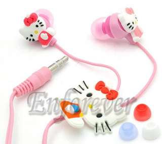 Hello Kitty Lady 3.5mm Headset Earphone Earbud^HP713
