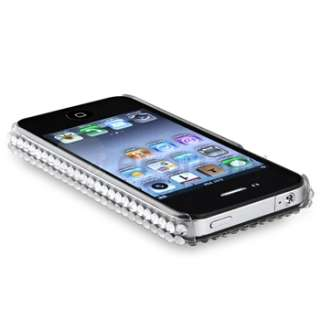 Silver Rhinestone Bling Hard Case Cover For iPhone 4 4S 4G 4GS 4G