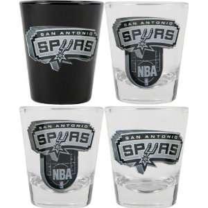 San Antonio Spurs 3D Logo Shot Glass Set  Sports