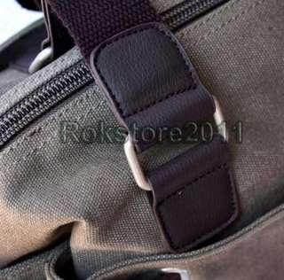 Mens Canvas Shoulder Satchel Casual Book School Travel Bag