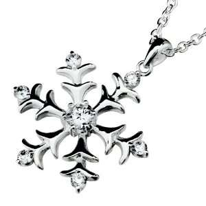Mothers Day Gifts Winter Christmas Snowflake Pendant Necklace For