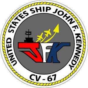 STICKER USN US NAVY CVN 67 USS JOHN F KENNEDY