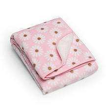 Carters Velour Sherpa Blanket   Pink Daisy   Carters   Babies R