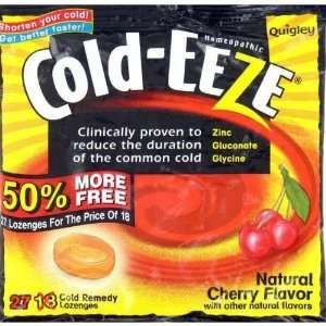 Cold Eeze Cough Drops Natural Tropical Fruit Flavors   27 Lozenges