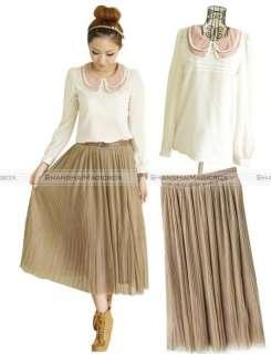 Women Fashion Vintage Bohemian Sweet Cute Yarn Long Skirt Dress 8