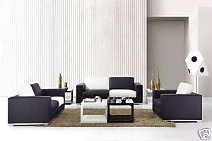 Modern Retro Checkered Black & White Sofa Set 0894