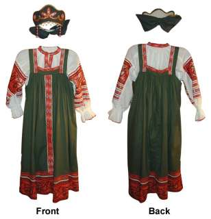 Such Russian handmade sarafans were traditional dress for Russian