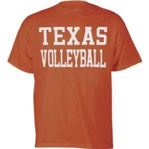 Texas Longhorns Orange Volleyball T Shirt