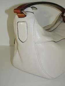 CurrentGUCCI White Madison Leather Medium Hobo Bag