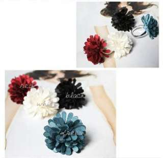 Fashion Lovely Fabric Sweet Flower Ring For Lady Girl w15 great gift