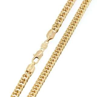 Inch Chains Vogue Elegant 18K Yellow Gold Filled Mens Necklace