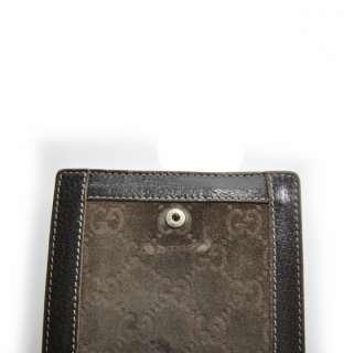GUCCI Guccissima Suede Wallet Coin Purse Brown GG