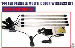 Custom Car Interior Wireless Flexible 7 Color LED Kit