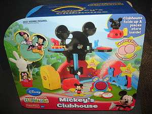 MICKEYS CLUBHOUSE Playset w/ Mickey & Minnie Mouse Figures NEW