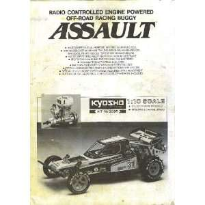 Kyosho ASSUALT 1/10 gas buggy instruction manual #3095 kyosho Books