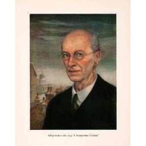 1960 Tipped In Print Arthur Rackham Self Portrait Oil Painting